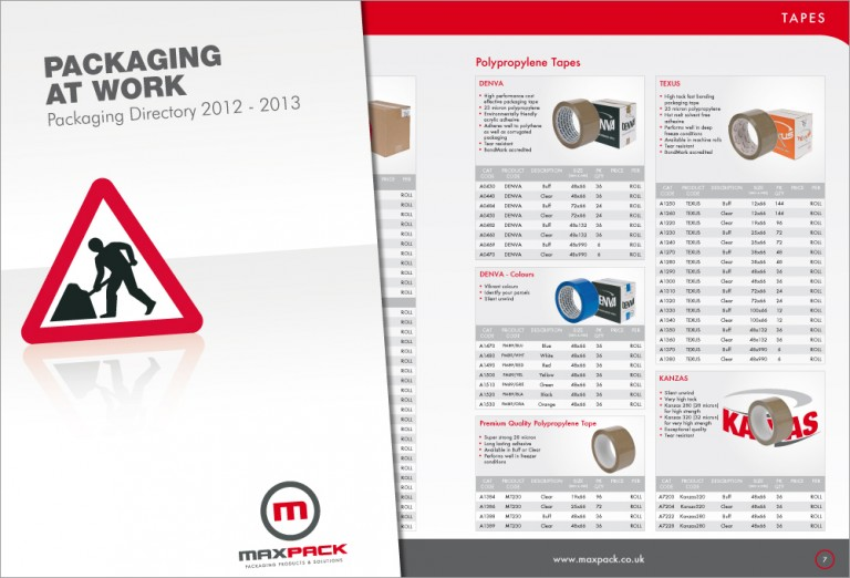 Maxpack Catalogue Design